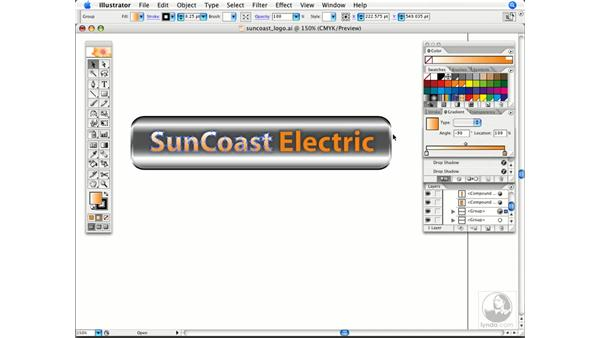Applying sample color to a gradient stop: Illustrator CS2 Power Shortcuts
