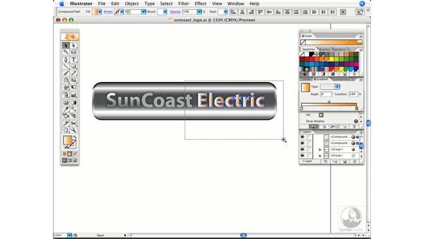 Applying gradients across multiple objects: Illustrator CS2 Power Shortcuts