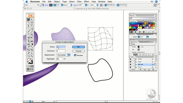 Start a mesh quickly: Illustrator CS2 Power Shortcuts
