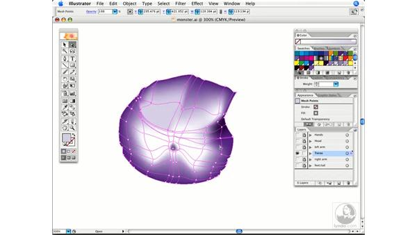 Changing mesh colors quickly: Illustrator CS2 Power Shortcuts