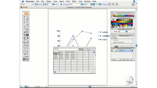 Importing graph data: Illustrator CS2 Power Shortcuts