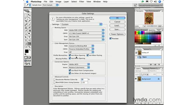 What should I do when I get the Missing Profile or Embedded Profile Mismatch dialog box?: Photoshop CS2 FAQs