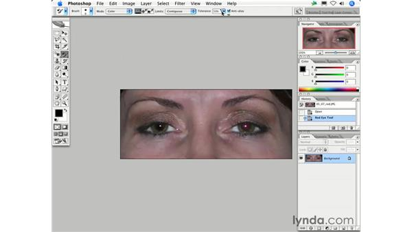What's the best way to eliminate red eye?: Photoshop CS2 FAQs