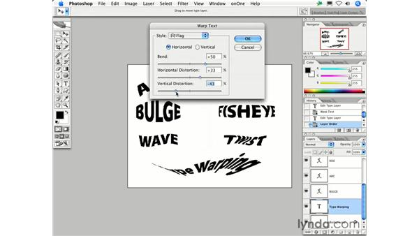 Can I make a line of text bend or turn?: Photoshop CS2 FAQs