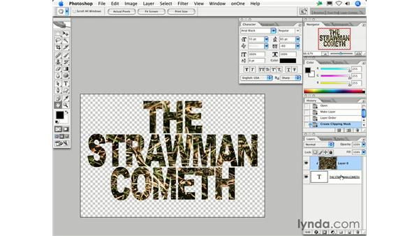 How can I fill text with a picture?: Photoshop CS2 FAQs