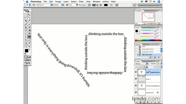 How do I make type flow along a path?: Photoshop CS2 FAQs