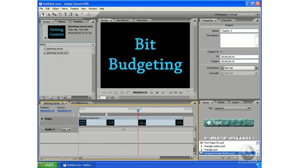 Planning a project: Encore DVD 2.0 Essential Training