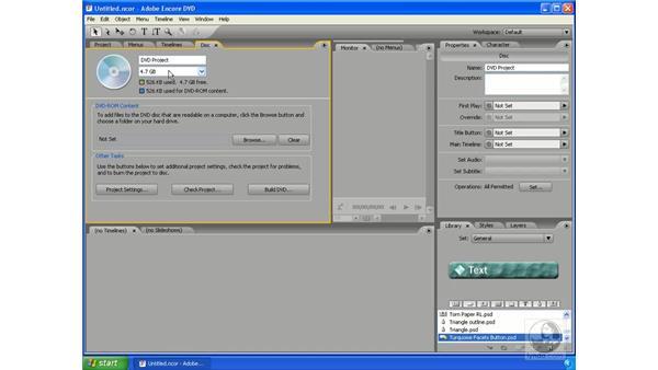 Output formats: Encore DVD 2.0 Essential Training