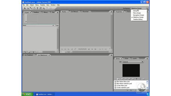 Intro to the interface: Encore DVD 2.0 Essential Training