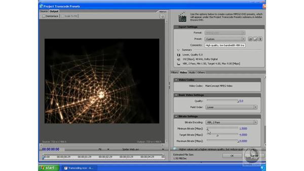 Transcoding essentials: Encore DVD 2.0 Essential Training