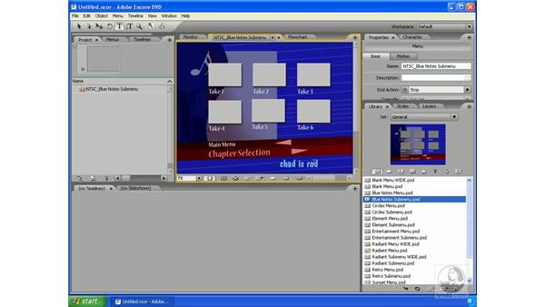 Adding text and effects: Encore DVD 2.0 Essential Training