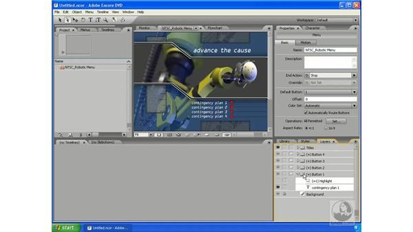 Subpicture states: Encore DVD 2.0 Essential Training