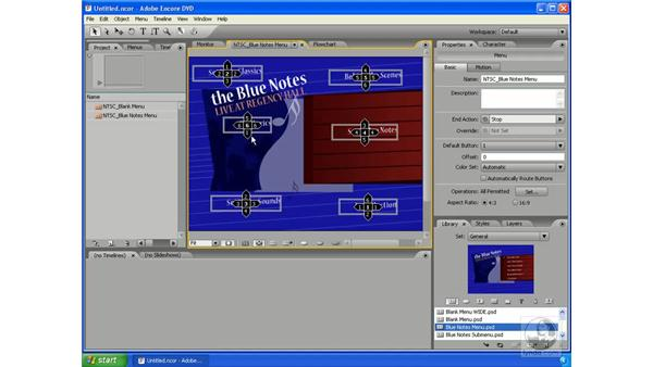 Button routing: Encore DVD 2.0 Essential Training