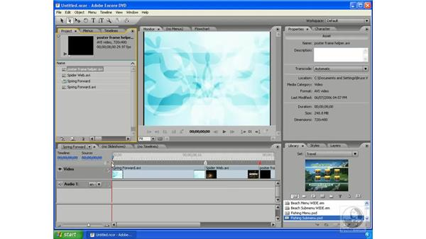 Working with video: Encore DVD 2.0 Essential Training