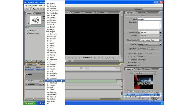 Using audio in Encore: Encore DVD 2.0 Essential Training