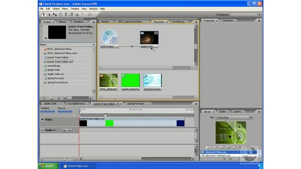 Checking your project: Encore DVD 2.0 Essential Training