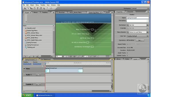 Advanced feature sampler: Encore DVD 2.0 Essential Training