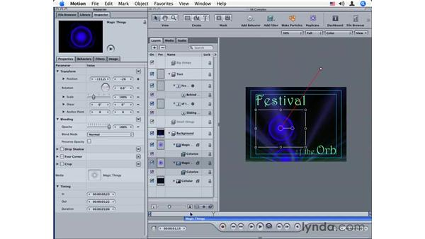 Creating complex text effects: Motion 2 Essential Training