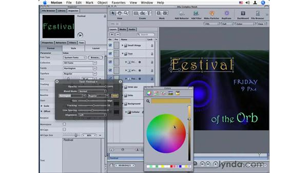 Roundtripping between Motion and DVD Studio Pro: Motion 2 Essential Training