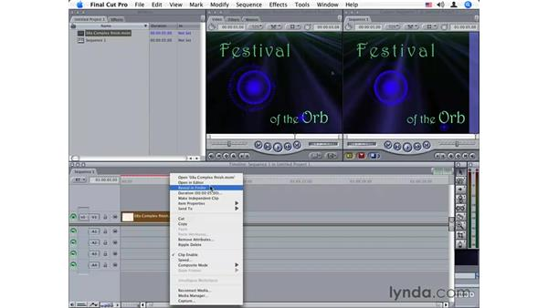 Roundtripping between Motion and Final Cut Pro: Motion 2 Essential Training