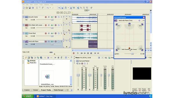 Surround mixing: Vegas 6 Essential Training