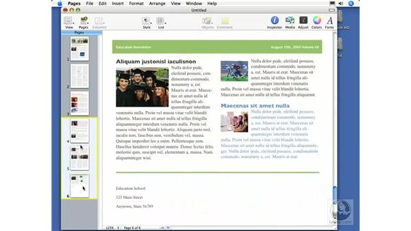 Adding and arranging pages in a document: Pages 2 Essential Training