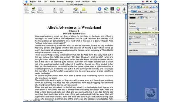 Paragraph formatting: Pages 2 Essential Training