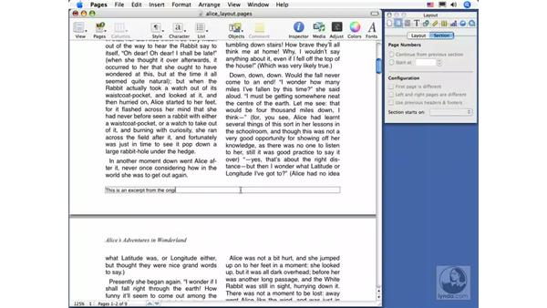 Headers and footers: Pages 2 Essential Training
