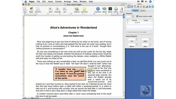 Wrapping text: Pages 2 Essential Training