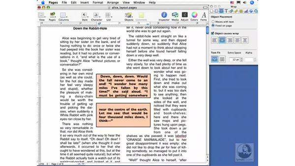 Linking text boxes: Pages 2 Essential Training