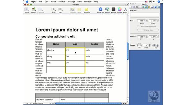 Selecting, copying, and moving cells: Pages 2 Essential Training
