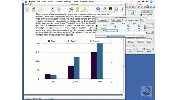 Entering chart data: Pages 2 Essential Training