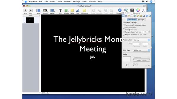 Creating a basic presentation: Keynote 3 Essential Training