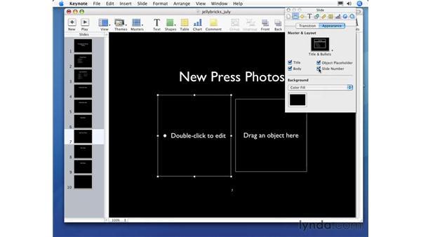 Customizing slide appearance: Keynote 3 Essential Training