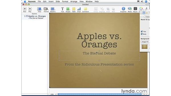 Text box types: Keynote 3 Essential Training