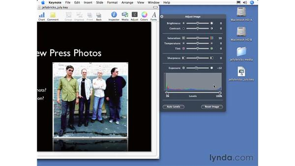 Adjusting images: Keynote 3 Essential Training