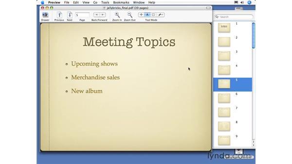 Exporting as PDF files: Keynote 3 Essential Training