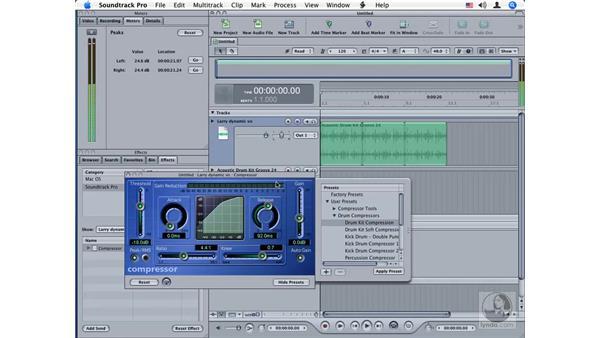 Compressor: Soundtrack Pro Audio Filters