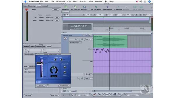 Gain: Soundtrack Pro Audio Filters
