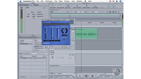 Limiter: Soundtrack Pro Audio Filters