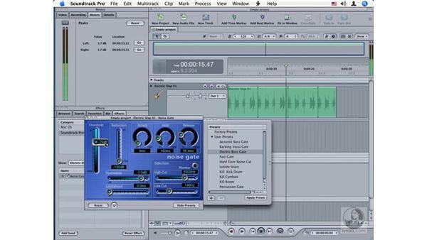 Noise Gate: Soundtrack Pro Audio Filters