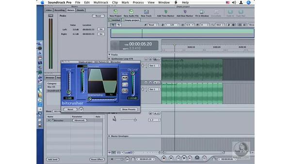 Bitcrusher: Soundtrack Pro Audio Filters