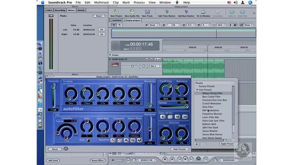 AutoFilter: Soundtrack Pro Audio Filters