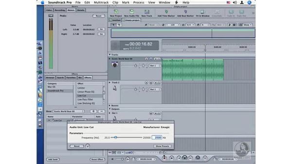 Low Cut: Soundtrack Pro Audio Filters