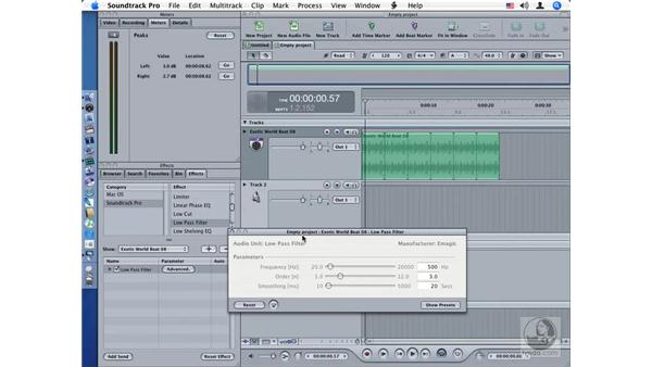 Low Pass Filter: Soundtrack Pro Audio Filters