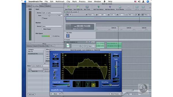 Match EQ: Soundtrack Pro Audio Filters