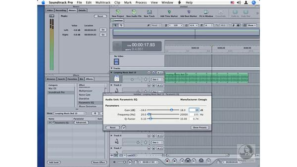 Parametric EQ: Soundtrack Pro Audio Filters