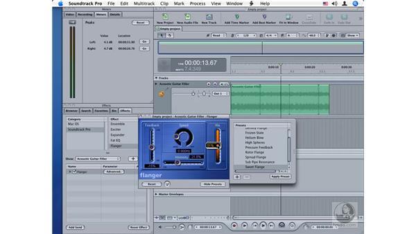 Flanger: Soundtrack Pro Audio Filters