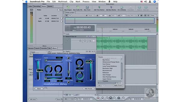 Modulation Delay: Soundtrack Pro Audio Filters