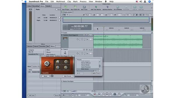 Scanner Vibrato: Soundtrack Pro Audio Filters